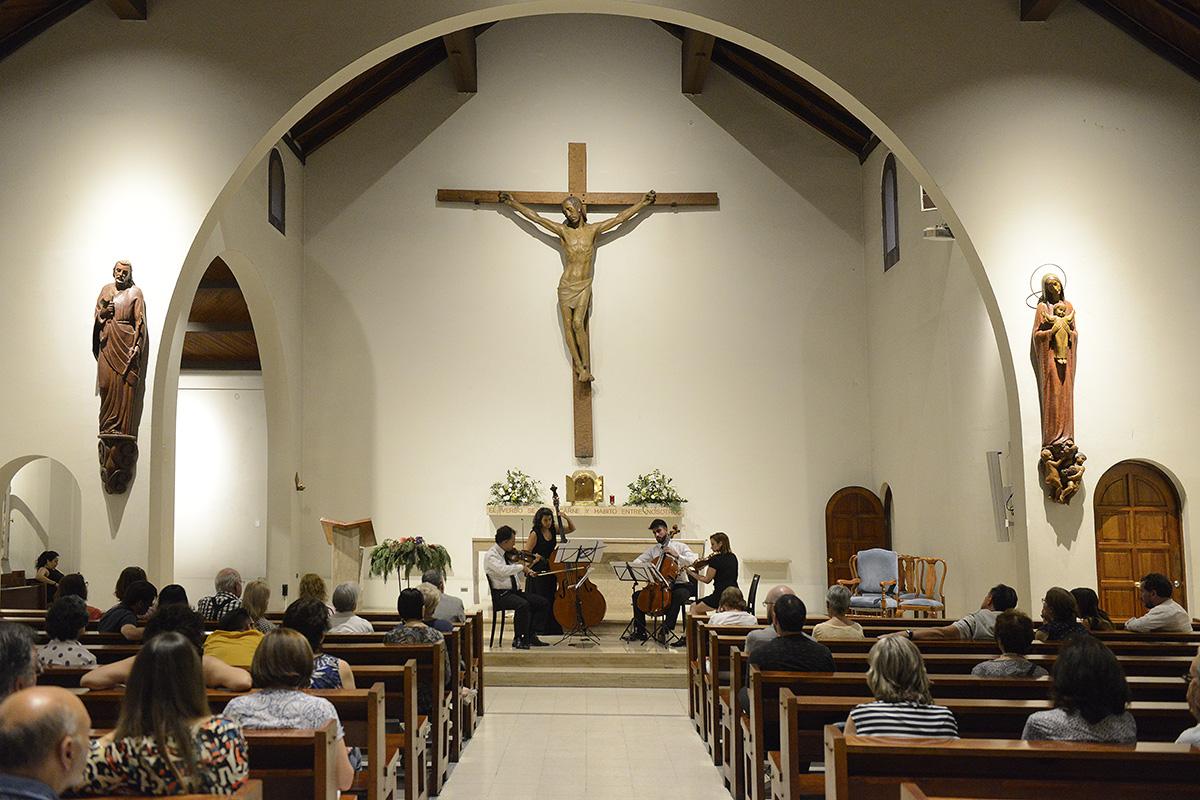 Cuarteto Crisantemi se presentó en la Parroquia Inmaculada Concepción