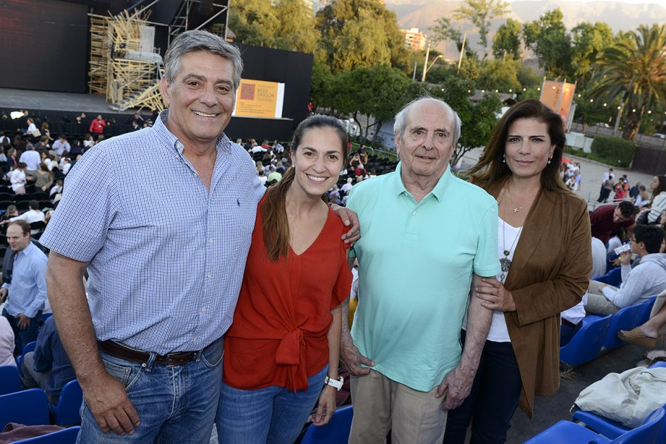 Aliro Rosatti, Nataly Rosatti, Paulina Rusque y Gastón Jequier.